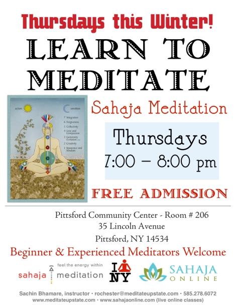 Rochester Meditation Classes Winter 2020